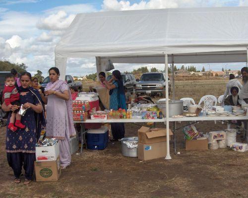 Yuba City Sikh Parade Langar Tents