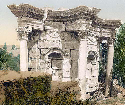 Baalbek Temple of Venus: Rear of the Small Temple of Venus at Baalbek, Lebanon