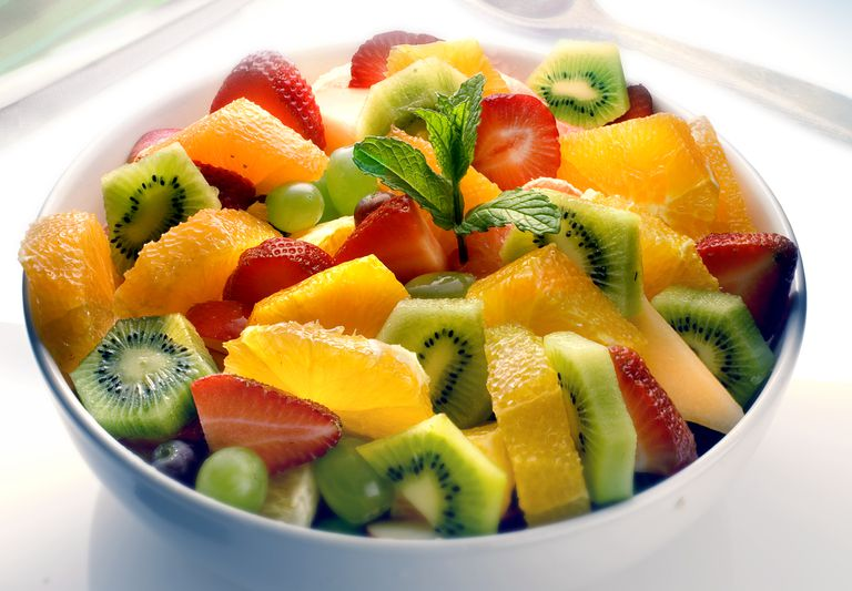 Close up of fruit salad bowl