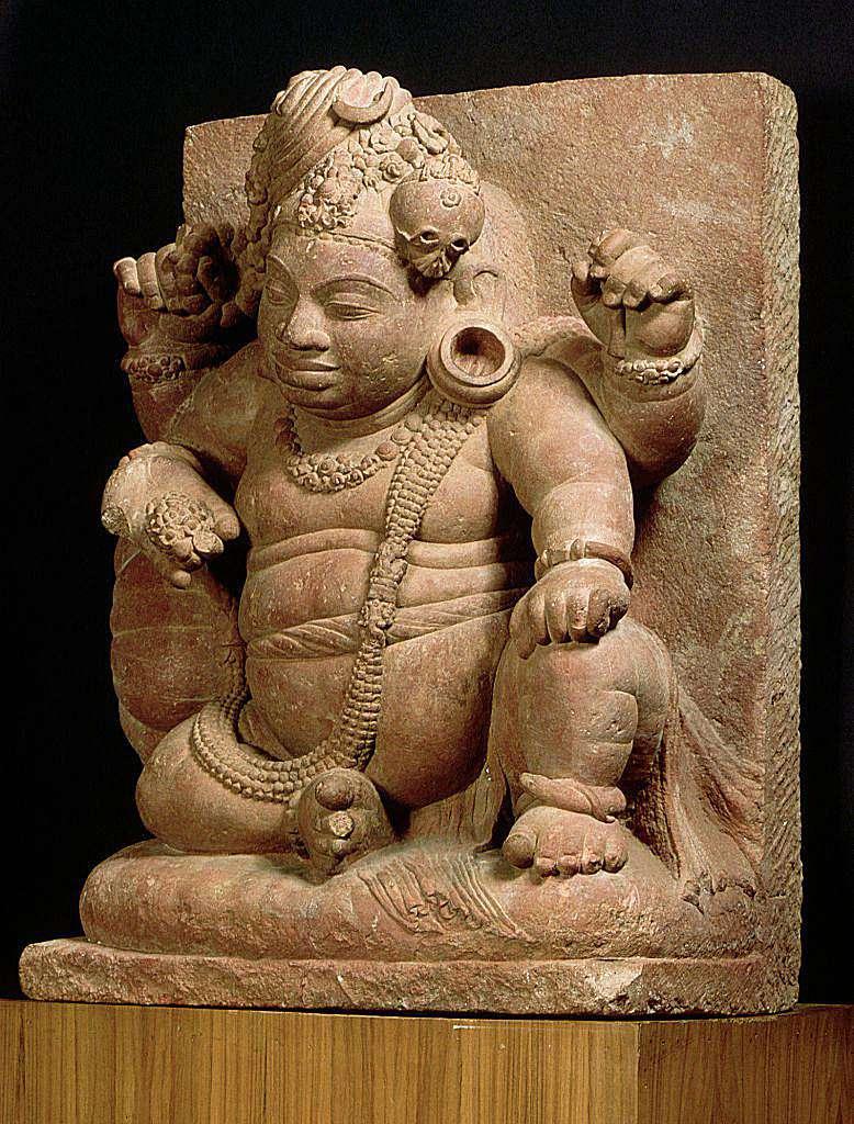 A sculpture depicting Vamana, the dwarf avatar of Vishnu