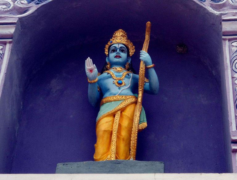 Lord Rama statue at Venkateswara Temple in Midhilapuri