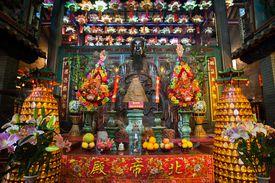 Main altar at Pak Tai Temple, Wanchai, Hong Kong