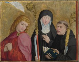 Saints John the Evangelist, Scholastica and Benedict (The Liesborn Altarpiece), ca. 1470-1480. Artist: Master of Liesborn (15th century)