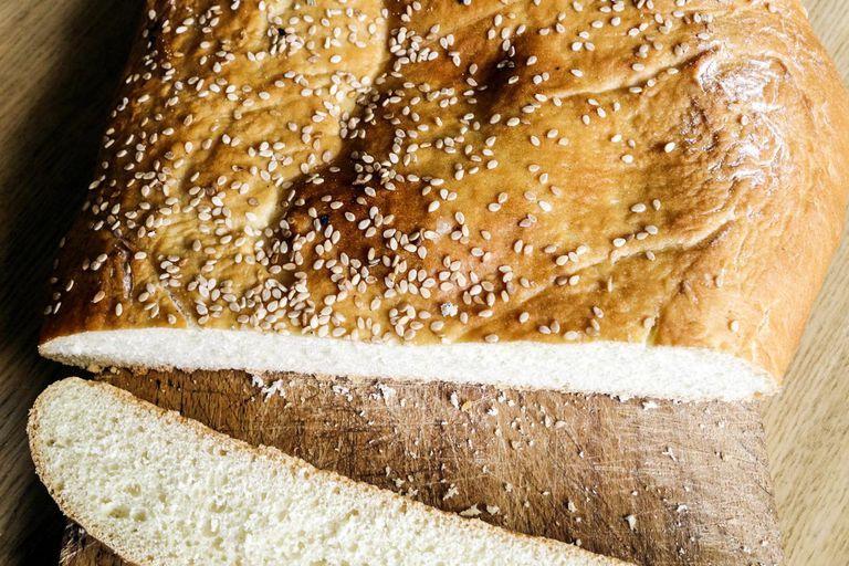 Whole wheat Greek flatbread lagana