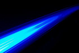 A blue light ray