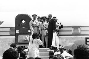 Haile Selassie Arrives In Kingston Jamaica