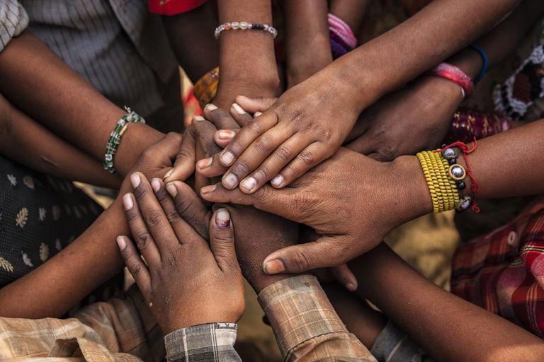 African hands in prayer