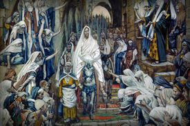 Painting of Palm Sunday Procession in the Streets of Jerusalem, by James Tissot.