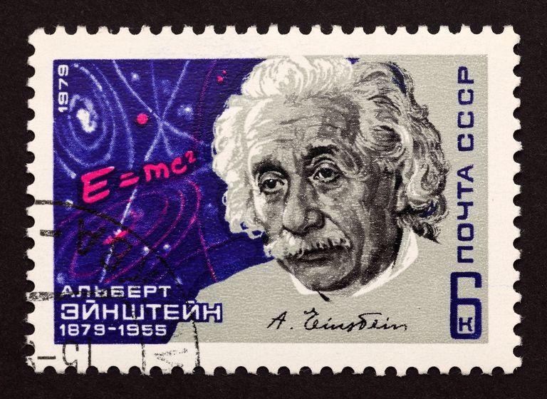 USSR postage stamp Albert Einstein