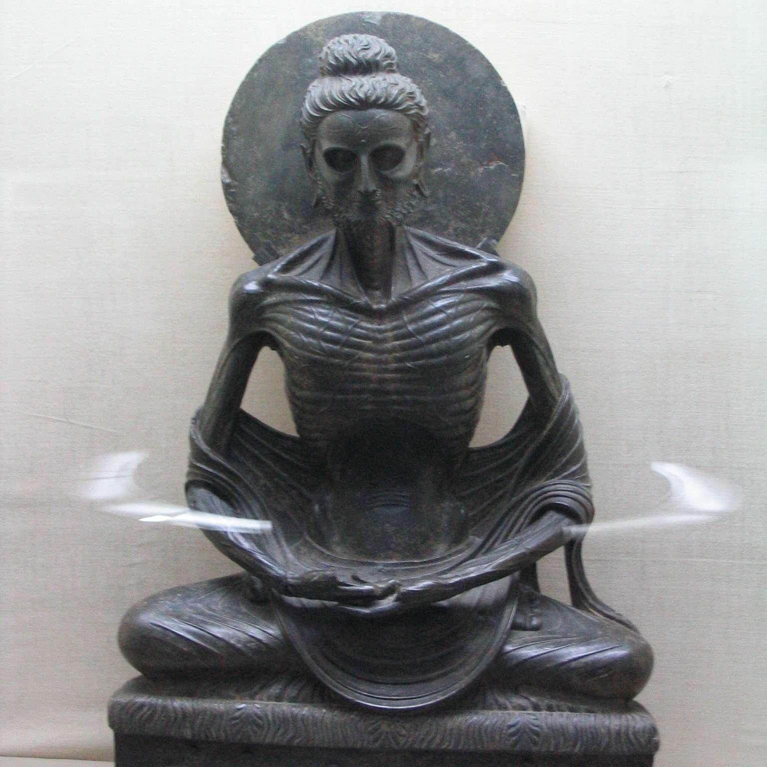 Fasting buddha at lahore museum