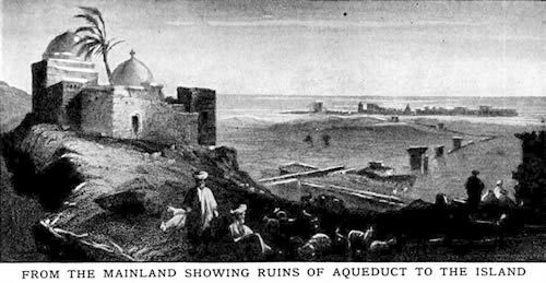 Tyre, Lebanon: Ruins of the Ancient Phoenician Tyre Aqueduct, late 19th Century Illustration