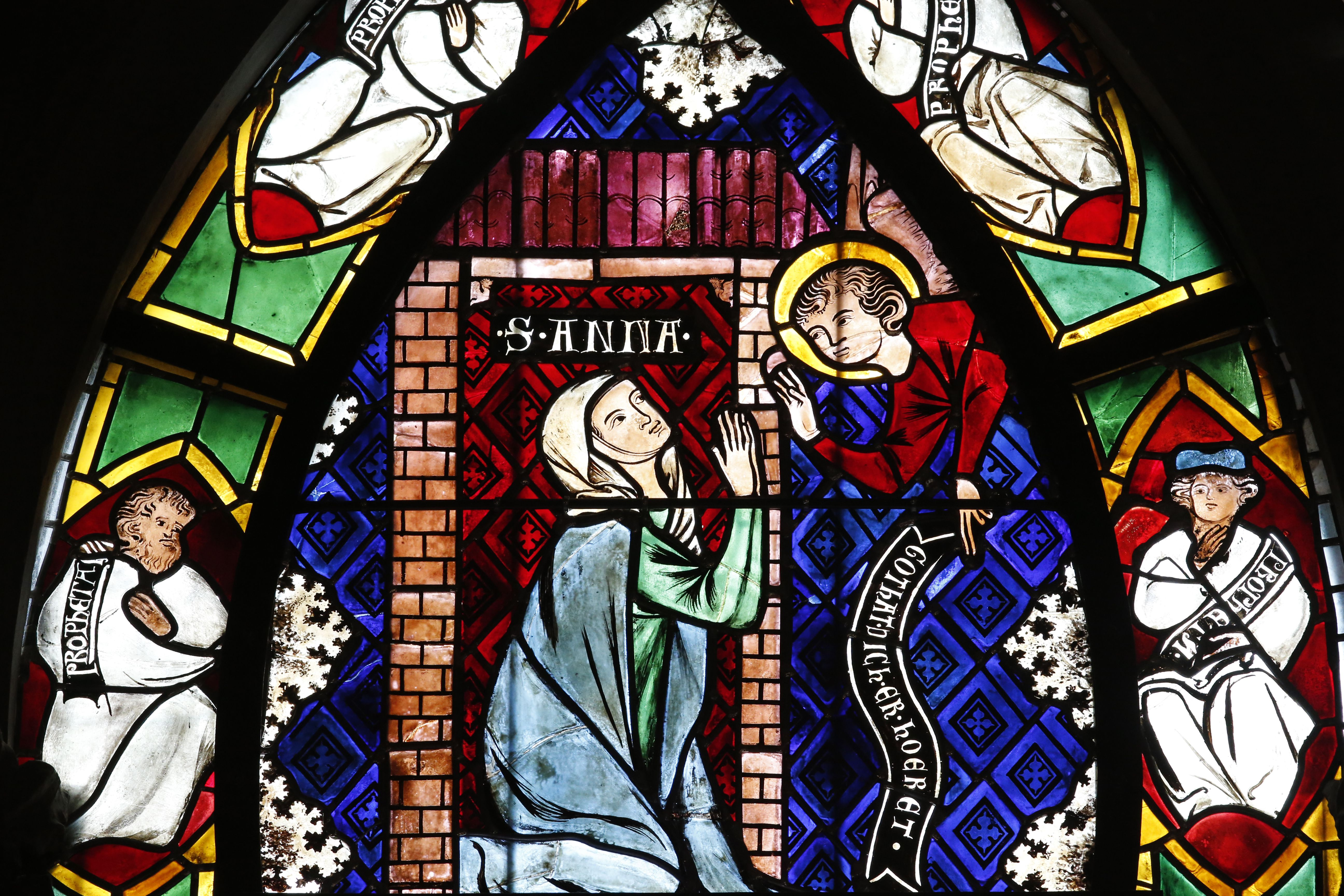 Christian art in France. Stained glass.