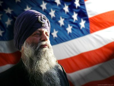 Sikh American Patriot and Old Glory