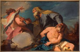 Abraham and Isaac in church San Francesco