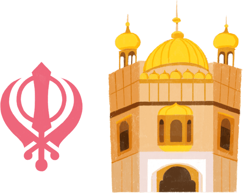 Golden temple and khanda
