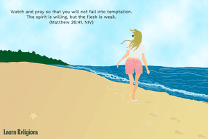Watch and pray so that you will not fall into temptation. The spirit is willing, but the flesh is weak. (Matthew 26:41, NIV)