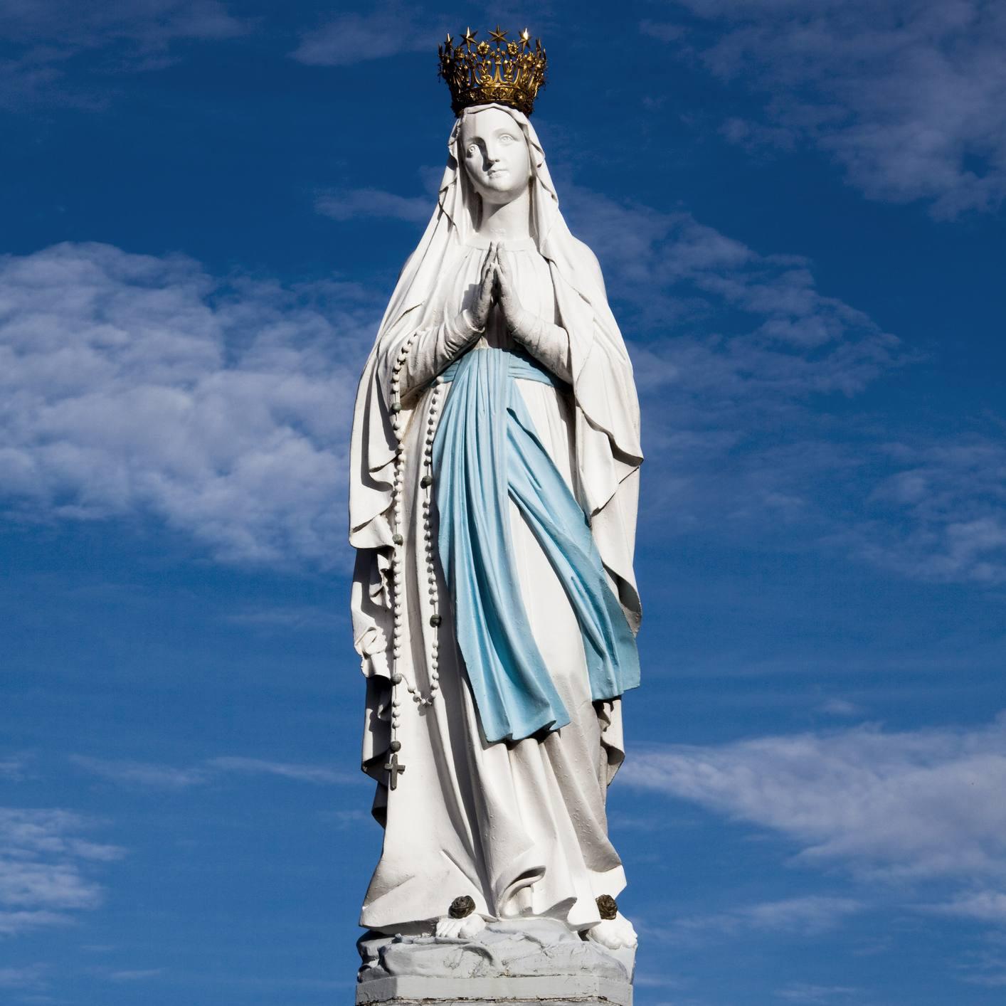 Southwestern France, Lourdes, statue of Virgin Mary