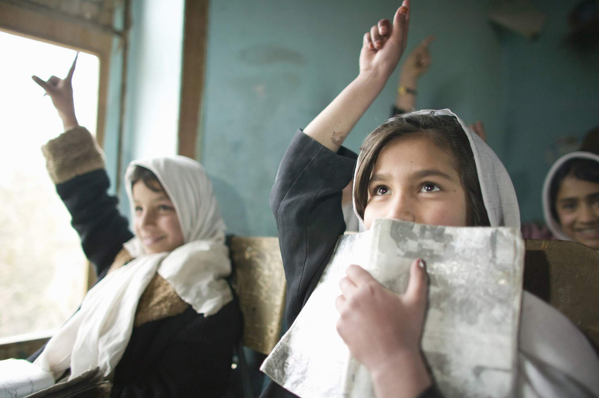 Classroom of Out of School Girls project, Kabul, Afghanistan