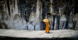 Monk at Wat Tamphaden Temple