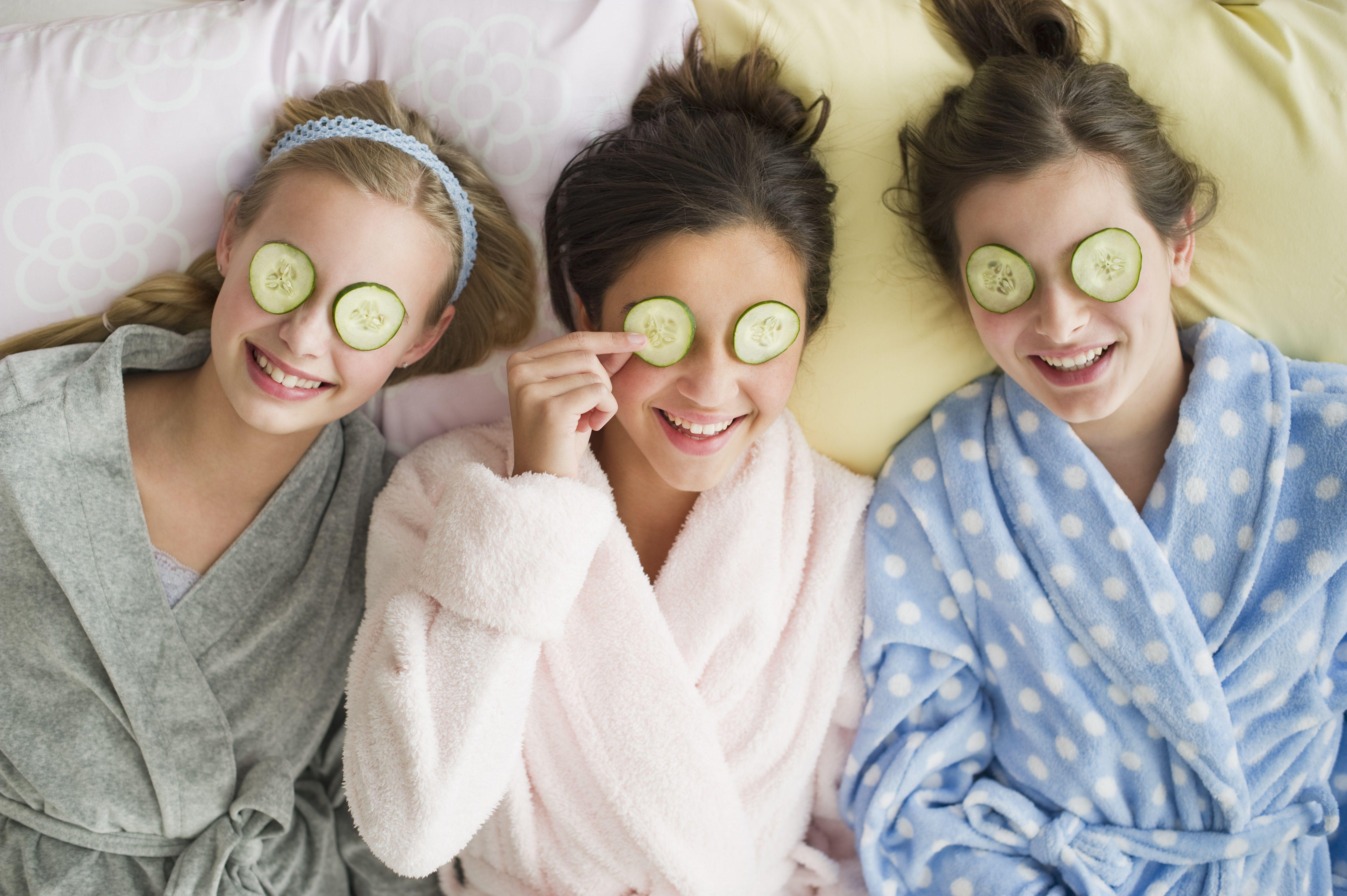 Girls having a spa day