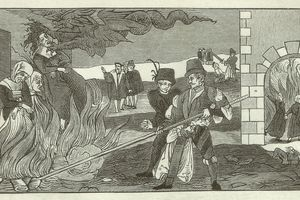 Witch-burning in the County of Regenstein, 1550
