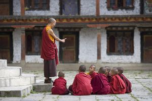 Buddhist lama teaching