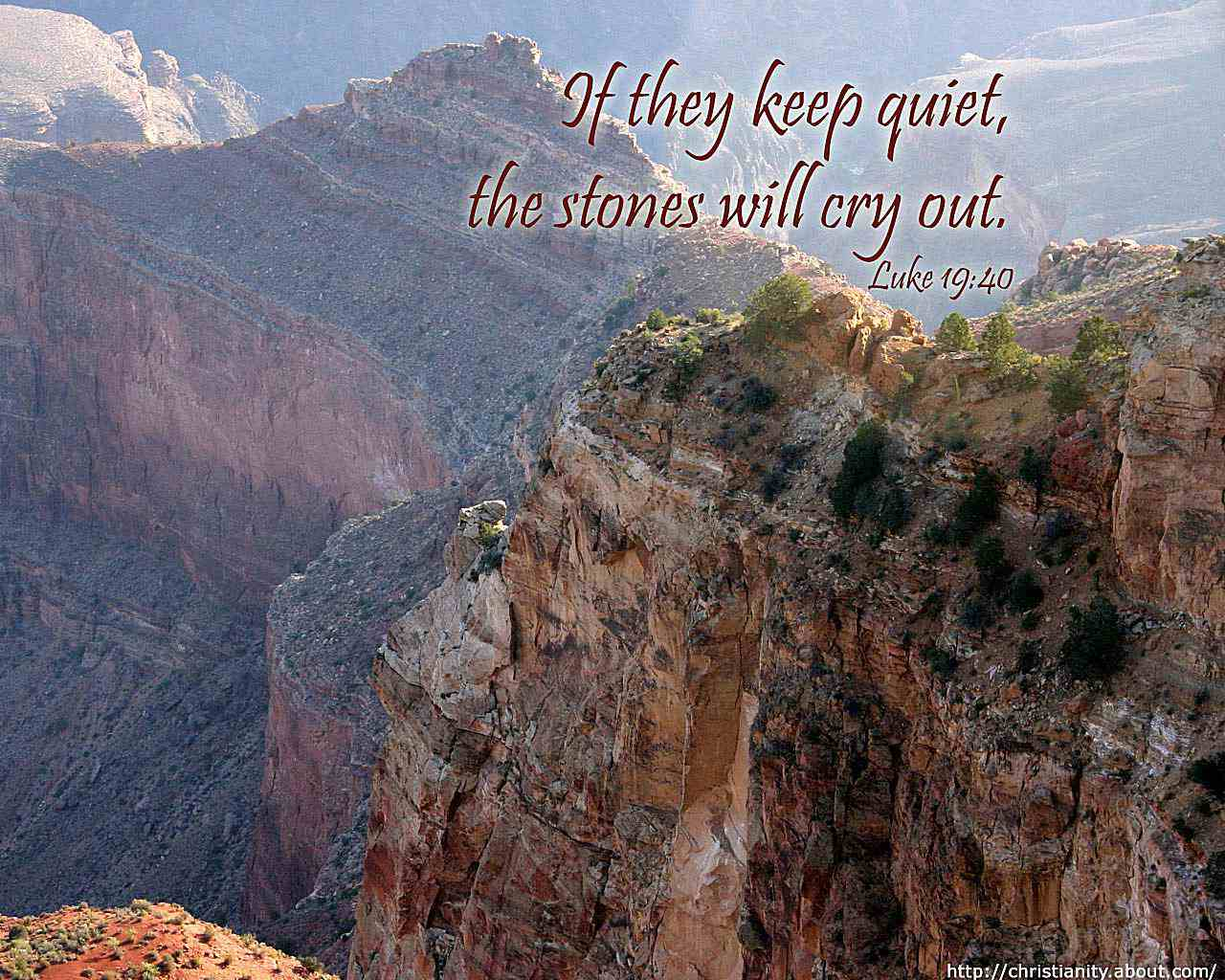 Stones Cry Out with bible verse