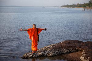 Monk on the Beach