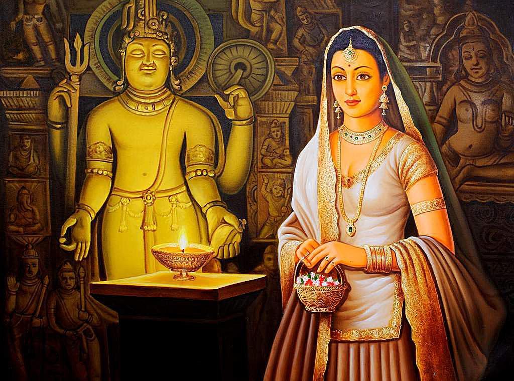 Devotee at a Shiva Temple