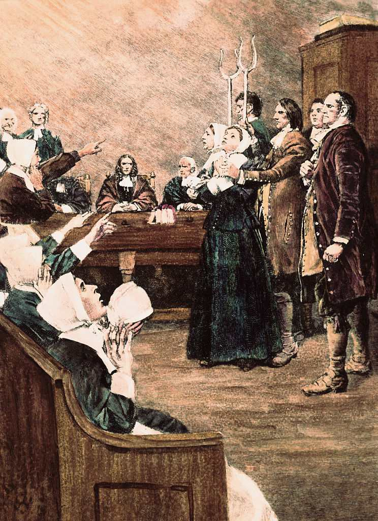 Salem Witch Trial Scene
