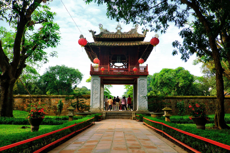 Beautiful Entrance At The Temple Of Literature (Van Mieu) Hanoi