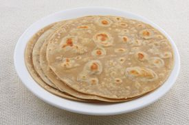 Indian flatbread on a plate