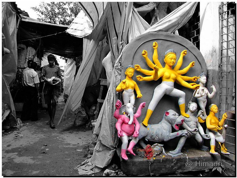 A stylized photo depicting the colors of the idols on a black and white background.