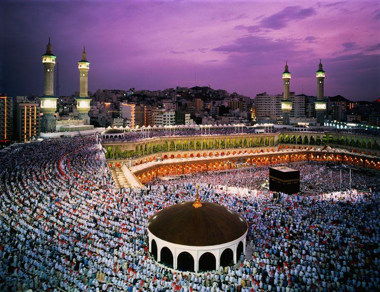Saudi Arabia, Hejaz, Mecca, al Haram mosque, elevated view