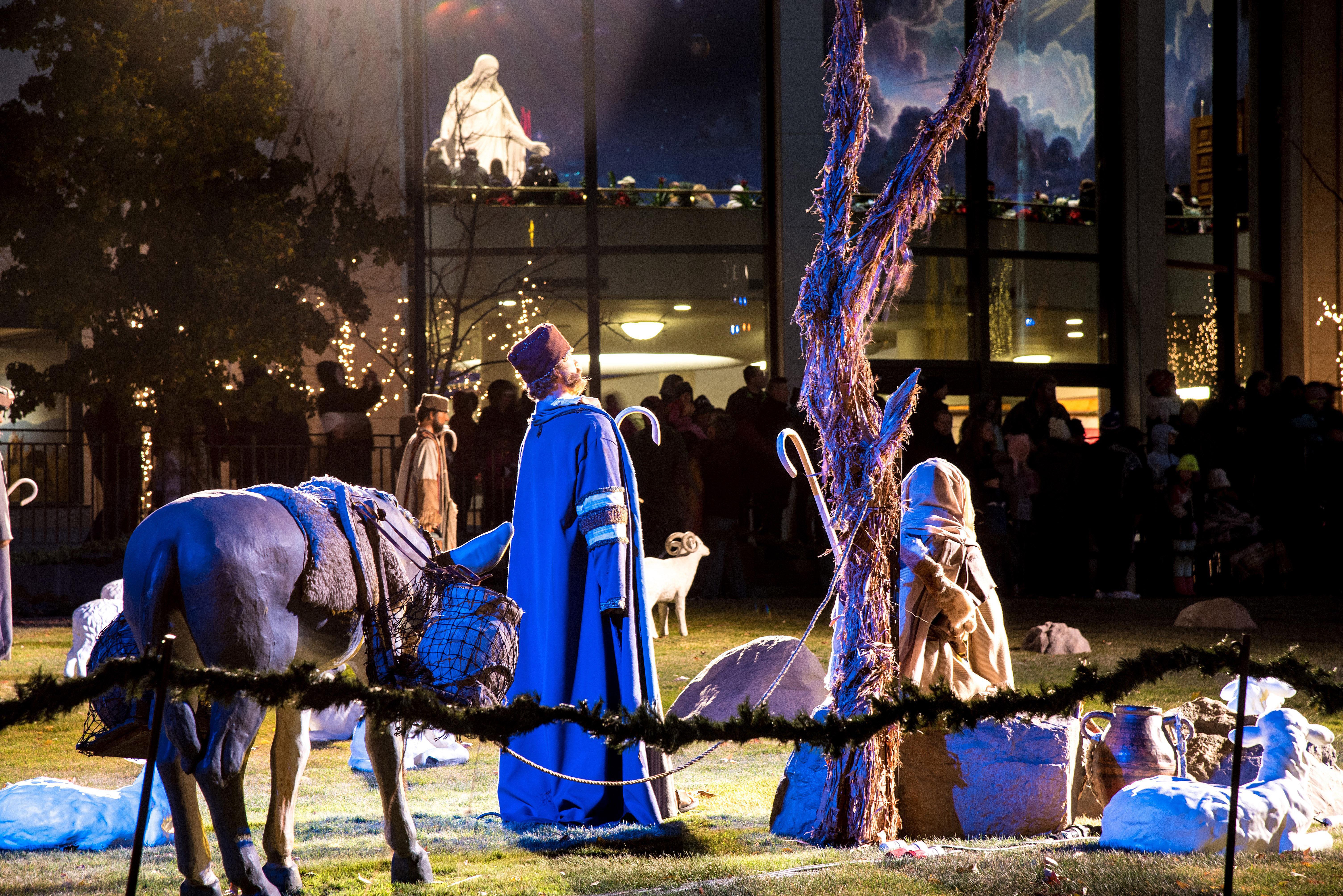 Nativity in Temple Square