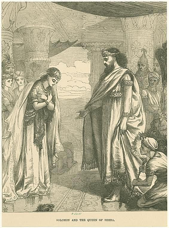 Image ID: 1622925 Solomon and the Queen of Sheba.