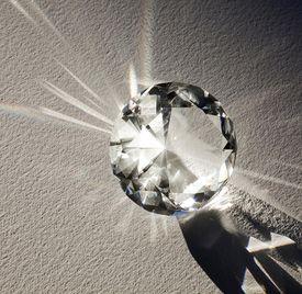 A diamond shining