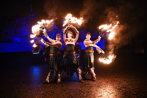 Torchlight Procession Through Edinburgh