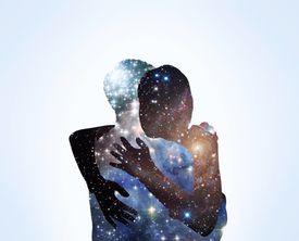 Angel hug embrace