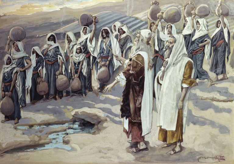 Moses Bible miracle of water from a rock