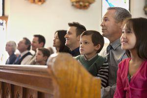 Congregation Sitting in Church
