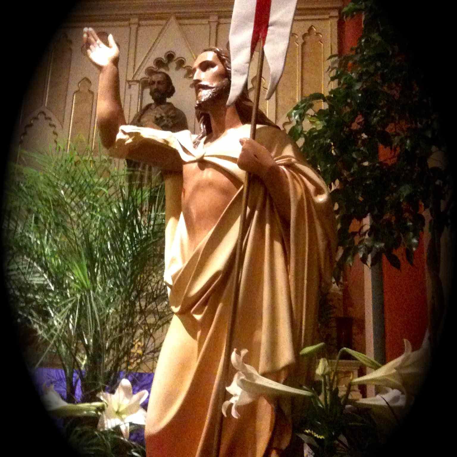 A statue of the risen Christ at Saint Mary Oratory, Rockford, Illinois. (Photo © Scott P. Richert)