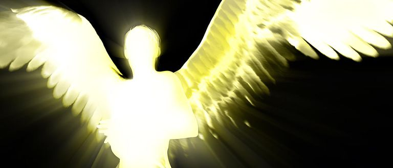 A light illustration of an angel.
