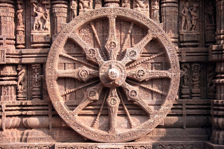 The Wheel of the Sun Temple of Konark