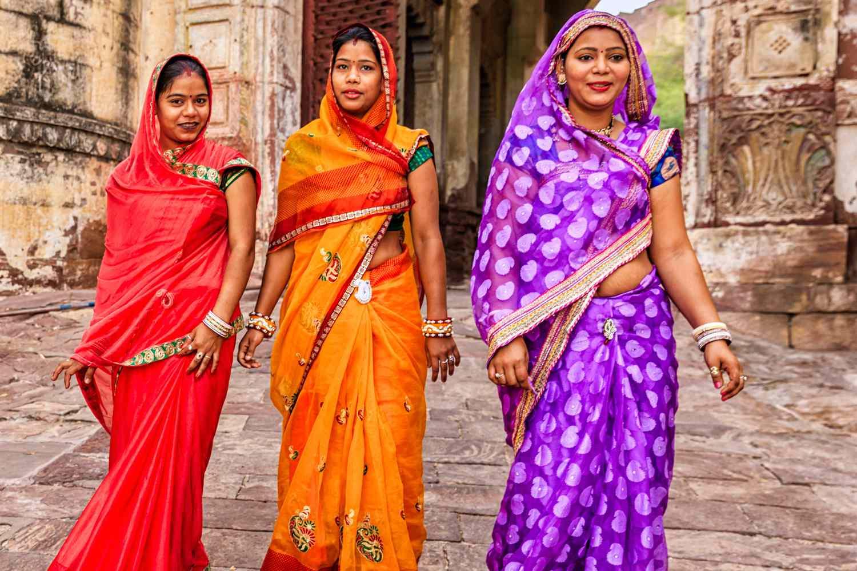 Women wearing saris