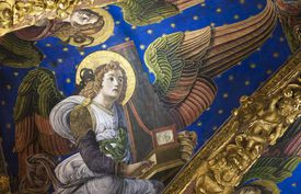Fresco of Angel in Valencia Cathedral