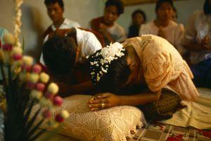 Buddhist wedding in Cambodia