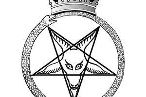 Illustration of Crown Baphomet, the Seal of Satan.