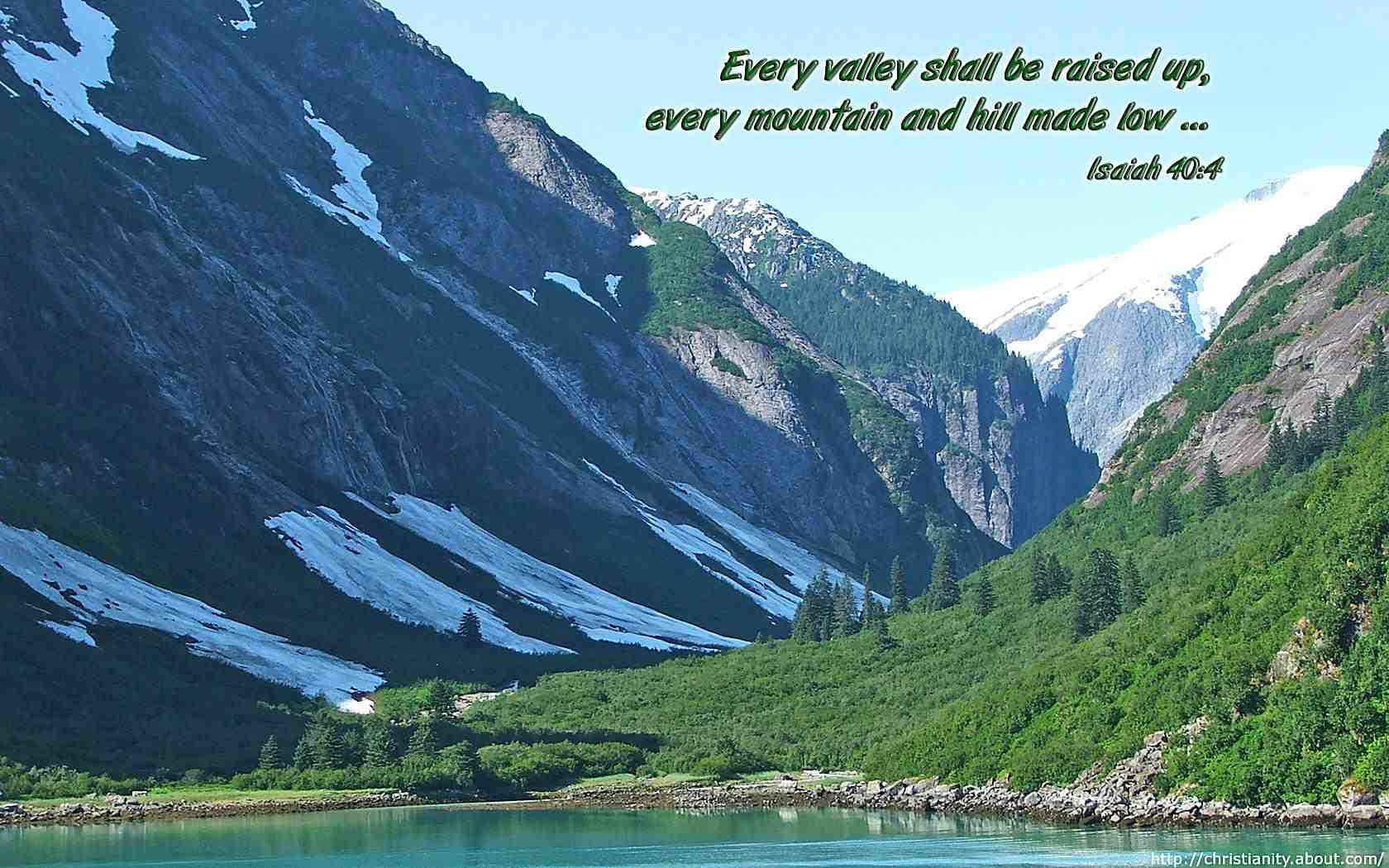 Mountains and Valleys with bible verse
