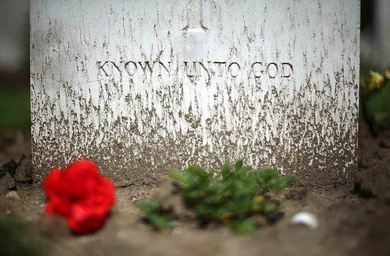 Closeup of a gravestone